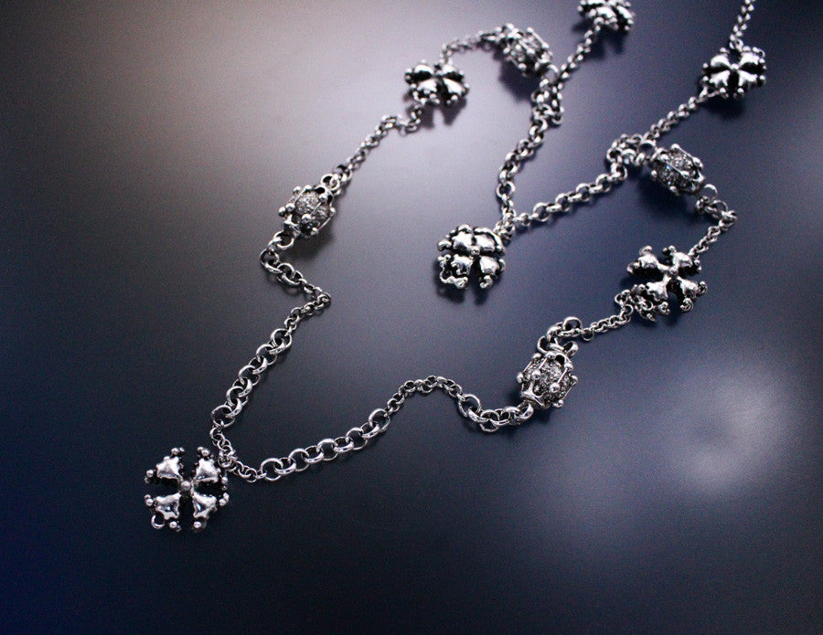 SG Liquid Metal LEN 3954 – AS (antique silver finish) Necklace / Chain by Sergio Gutierrez