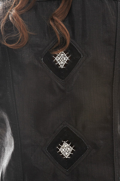 SG Liquid Metal 201 Black Denim Jacket by Sergio Gutierrez