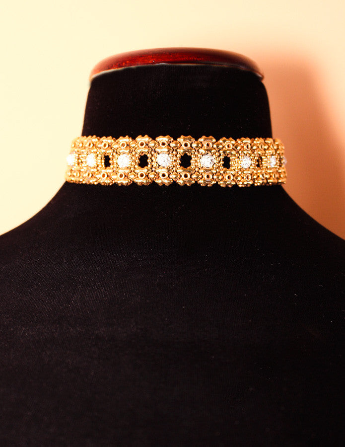 LEC 3445 – AG (antique gold finish) Choker