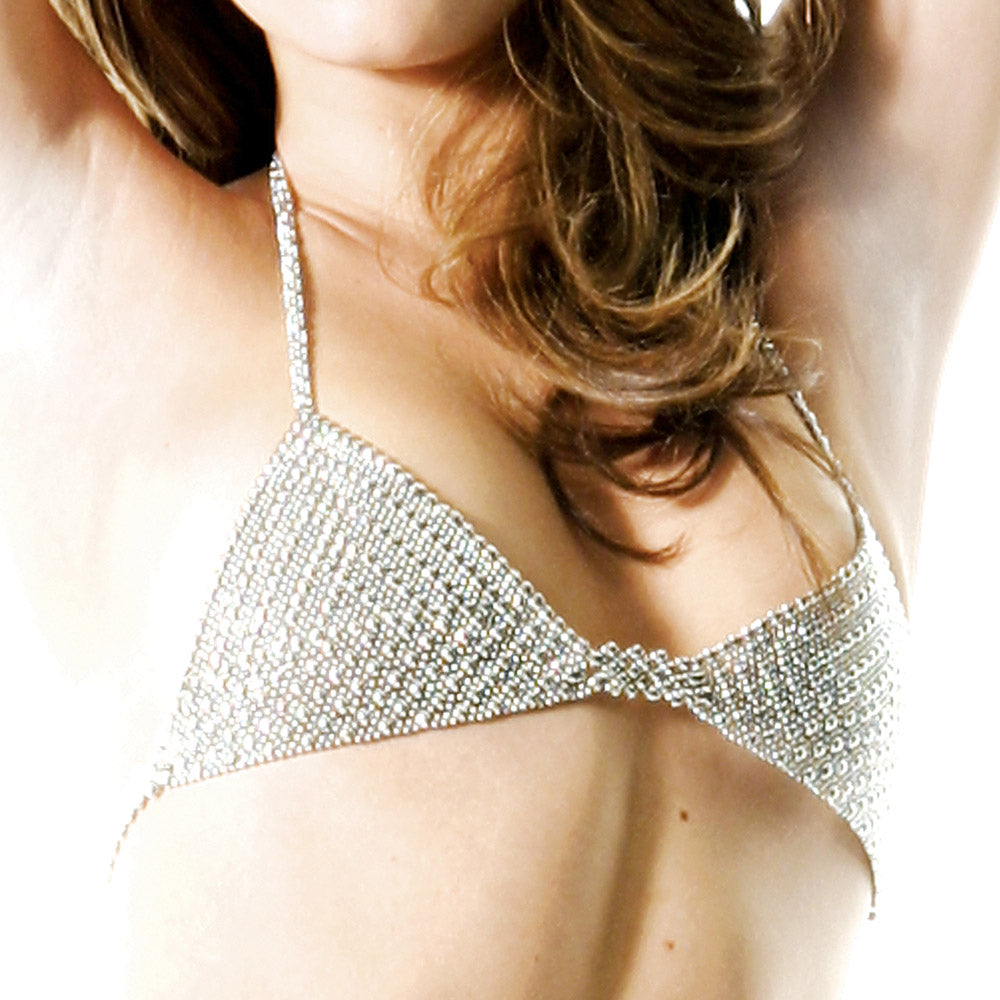 SG Liquid Metal BRA2-N (Chrome Finish) Bra Top by Sergio Gutierrez