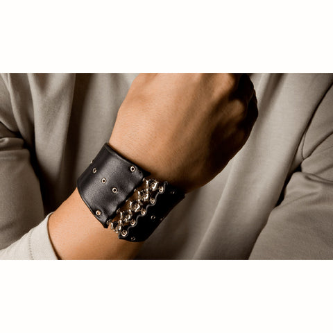SG Liquid Metal MAA4 (Chrome Finish) Leather Bracelet by Sergio Gutierrez