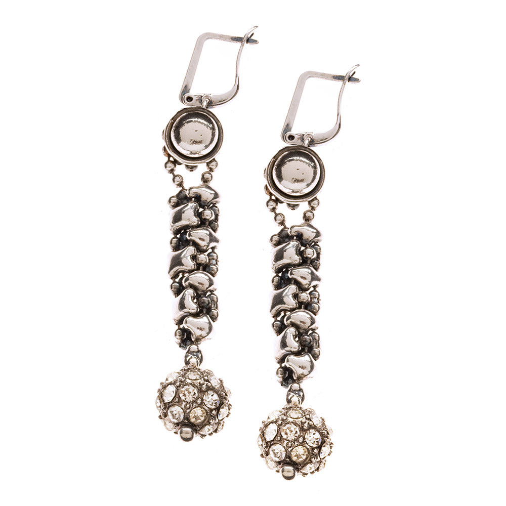 SG Liquid Metal RTE4-AS (Antique Silver Finish) Earrings by Sergio Gutierrez