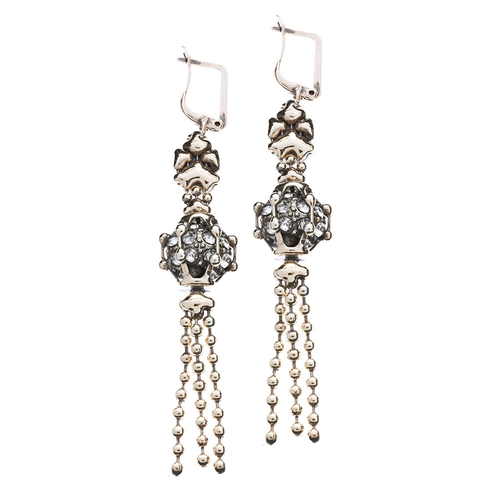 SG Liquid Metal RTE5-AS (Antique Silver Finish) Earrings by Sergio Gutierrez