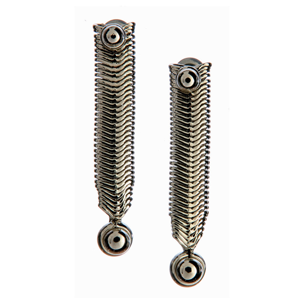 SG Liquid Metal SNE1-N (Chrome Finish) Earring by Sergio Gutierrez