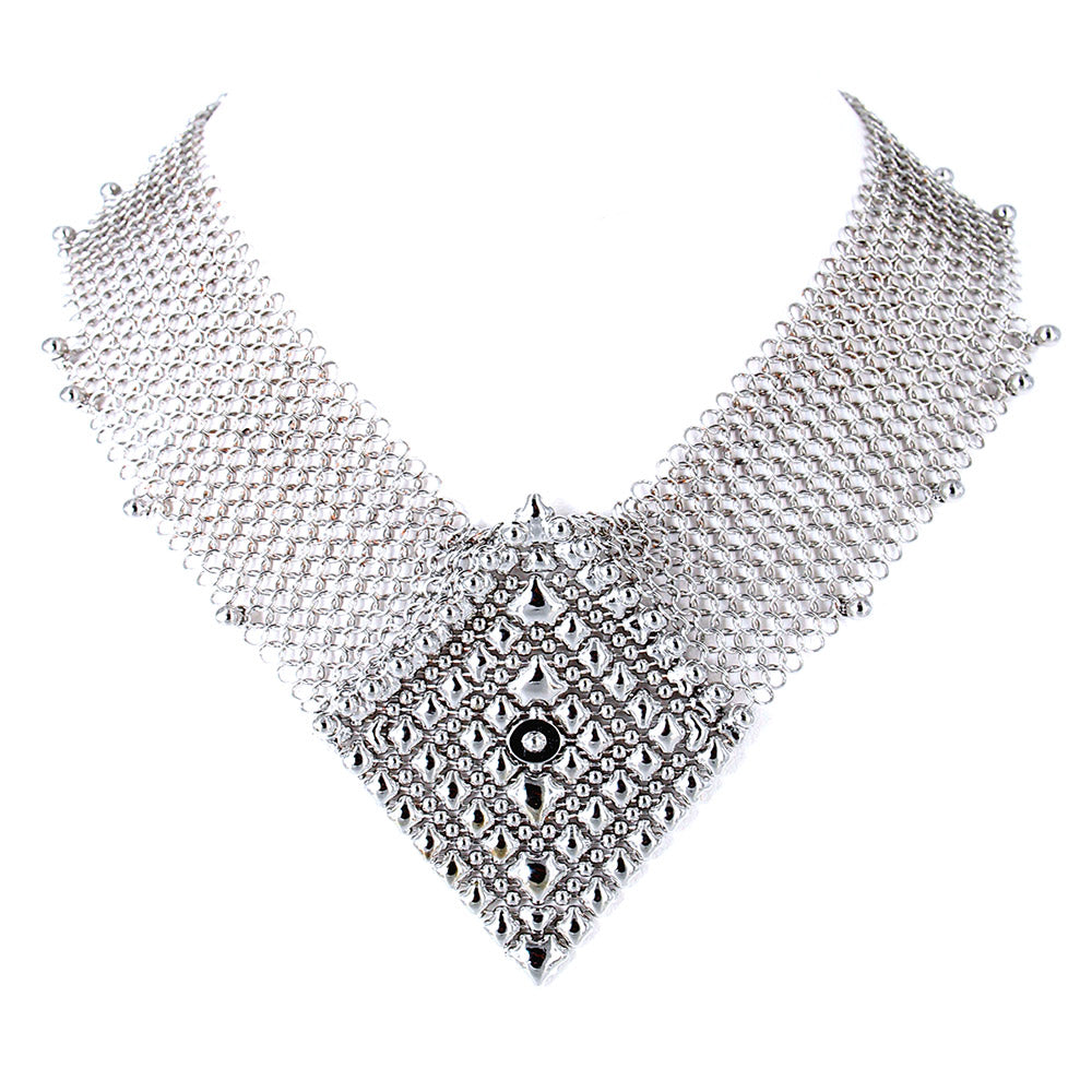 SG Liquid Metal CMNECK2-N (Chrome Finish) Necklace by Sergio Gutierrez