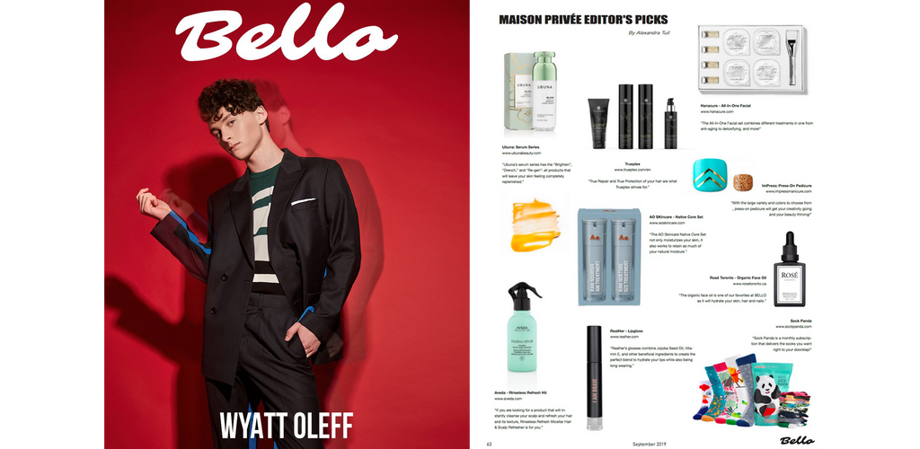 Ao Skincare Features in Bello Magazine's Editor's Picks