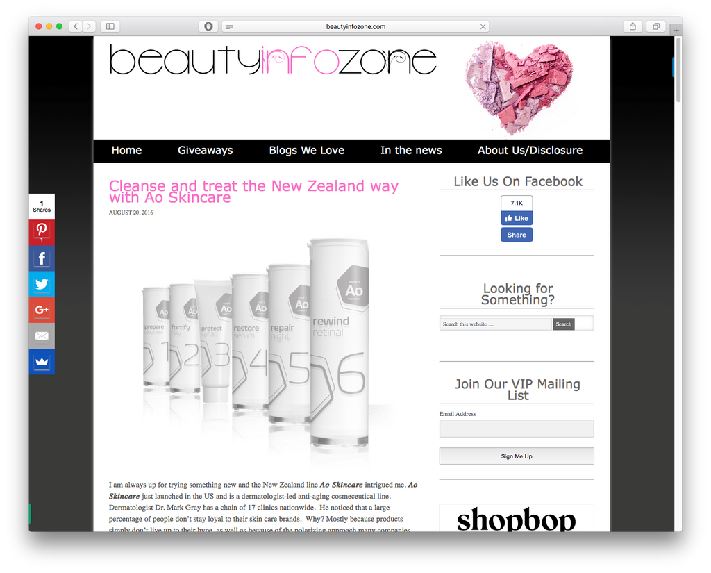 Cleanse and treat the New Zealand way with Ao Skincare