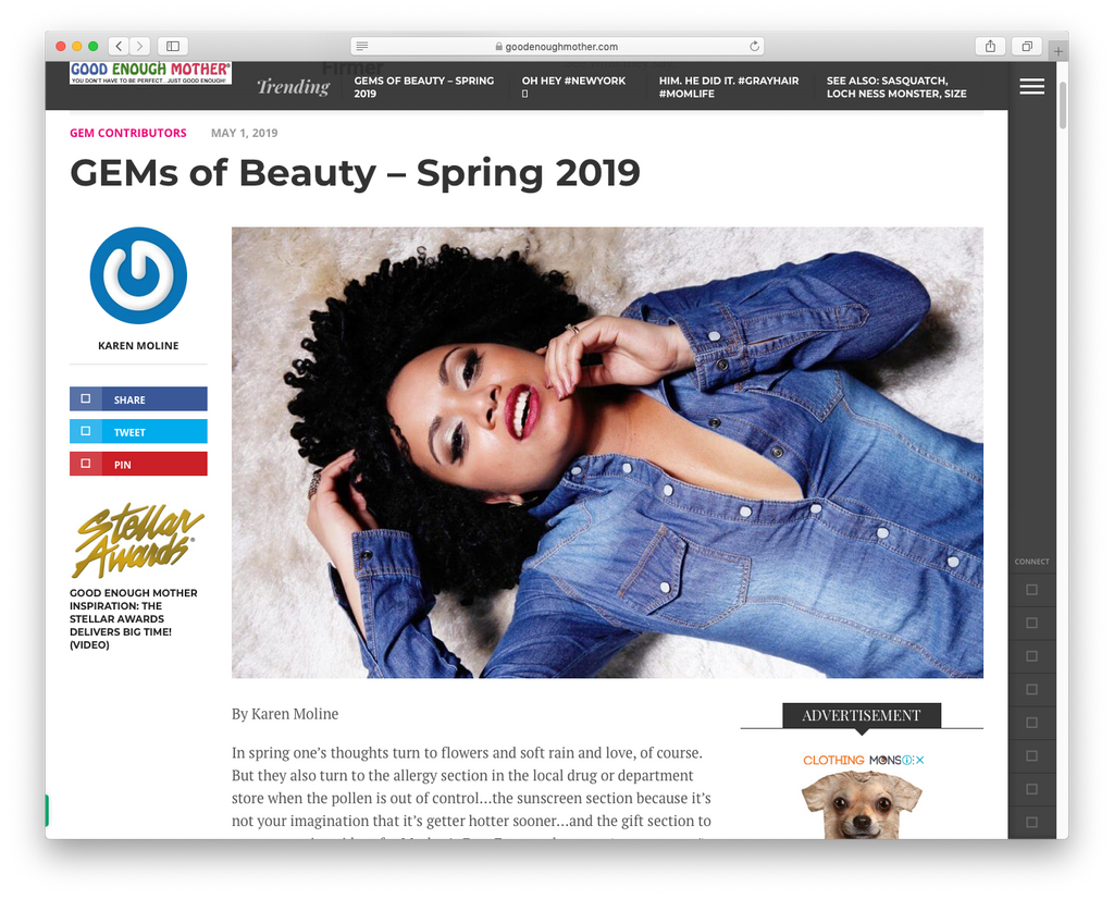 GEMs of Beauty – Spring 2019