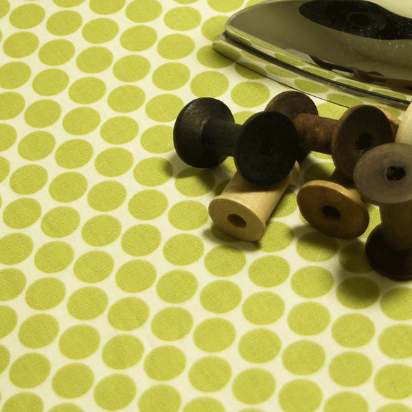 Ironing board cover Amy Butler olive lime green dots fabric standard size Ironing Board Cover