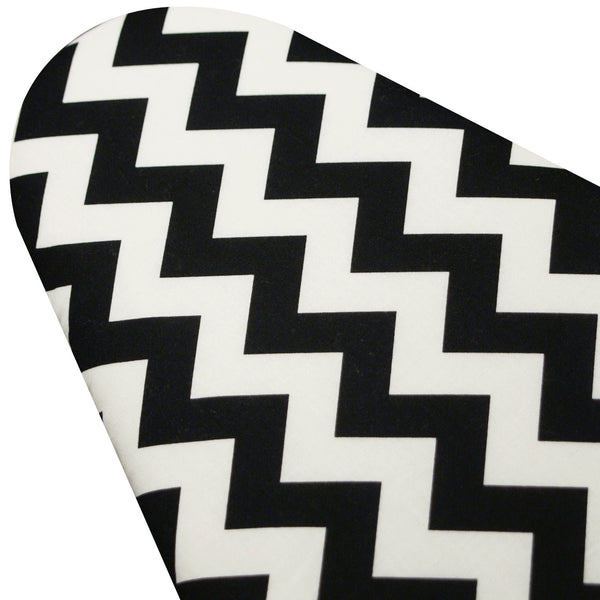 Ironing Board Cover WITH ELASTIC BINDING made with Riley Blake Black and White Chevron