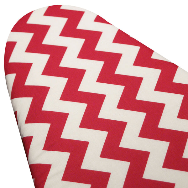 PADDED Ironing board cover Custom ironing board cover Designer ironing board cover Riley Blake Chevron Red and White pick your size