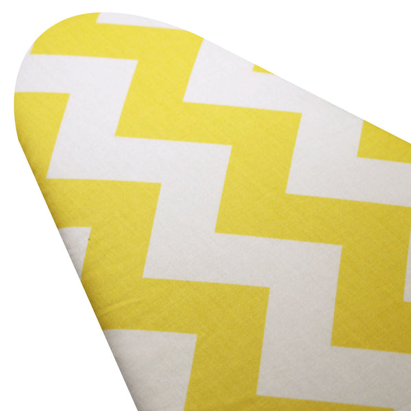 PADDED Ironing Board Cover designer ironing board cover Custom fit ironing board cover Daffodil Yellow and White GIANT Chevron pick the size