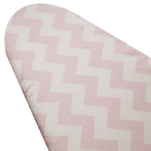 PADDED Ironing Board Cover made with Riley Blake light pink and white chevron select the size