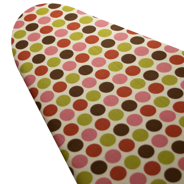 PADDED Ironing Board Cover made with Riley Blake earthy dots select the size