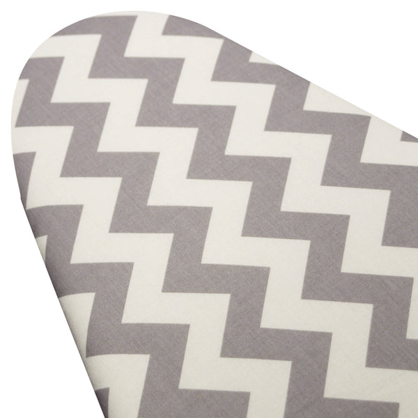 Ironing Board Cover with ELASTIC AROUND EDGES made with Riley blake gray and white chevron select the size