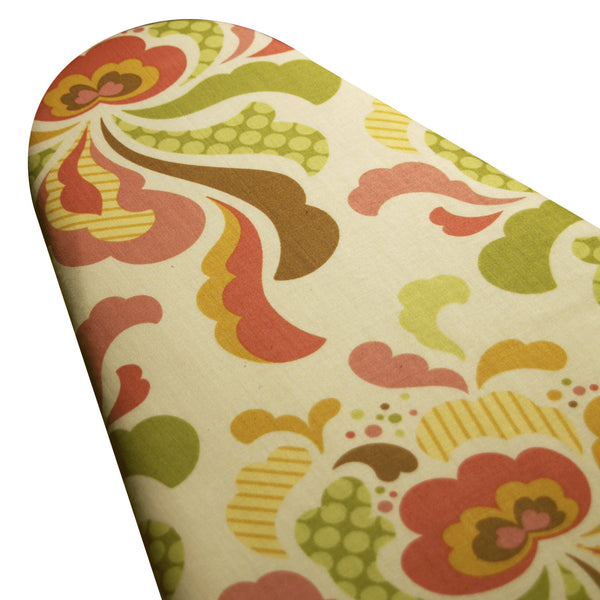 Ironing Board Cover with ELASTIC AROUND EDGES made with Heather Bailey Freshcut Blossoms select the size
