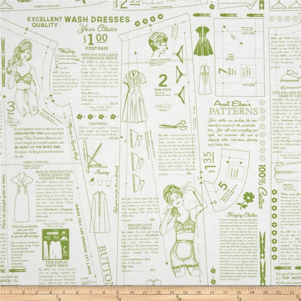 PADDED Ironing Board Cover made with Riley Blake Vintage Happy sewing pattern green on white print fabric select the size
