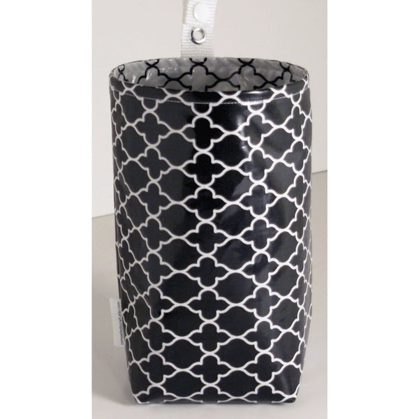 Wastebasket car trash can car garbage can collapsible anywhere craft thread catcher laminated cotton waterproof WASTIE black white mosaics