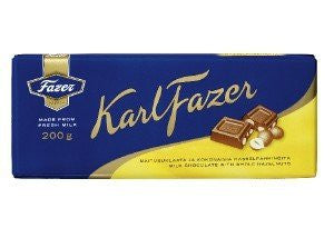 Fazer Whole Hazelnut Chocolate Bar 200g