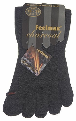Feelmax Charcoal Toe Socks Ladies Shoe Size 5 - 8