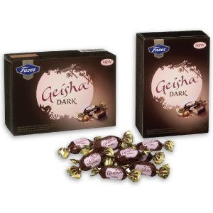 New! Fazer Geisha Dark Chocolate with Soft Hazelnut Filling 5.3oz Small Gift Box