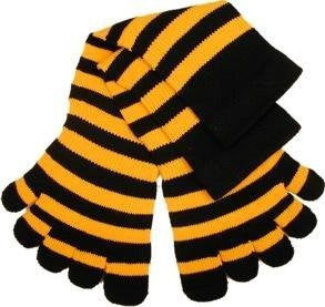 Feelmax Toe Socks Basic Cotton Black/Yellow Striped Infant's 2 - 4