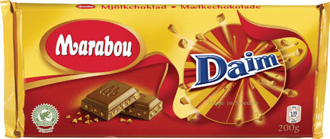 Marabou Milk Chocolate Bar with Daim pieces 7.05 oz