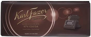 Fazer Dark Chocolate Bar 7.05 oz