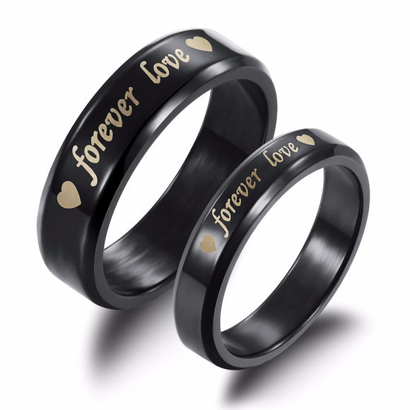 Stainless Steel Engraved Forever Love Band