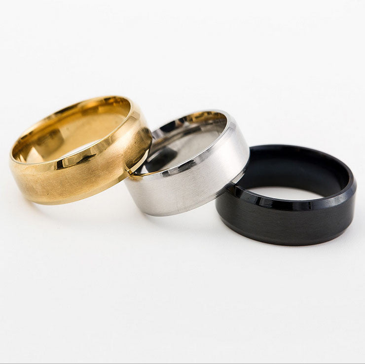 Stainless Steel Band Gold/Silver/Black - Special Design Jewelry - 1