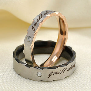 Stainless Steel Lovers Matching Rings