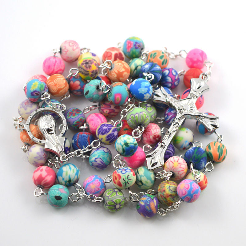 2017 Premium Multi-Color Clay Bead Rosary