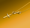 2018 Gold Infinity Faith Cross Necklace