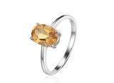 November Citrine Birthstone Ring