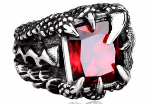 Stainless Steel with Cubic Zircon Dragon Ring