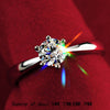 Gold with Round-cut Zircon Engagement Ring - Special Design Jewelry - 3