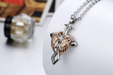 Angel Wings Cross Stainless Steel Necklace