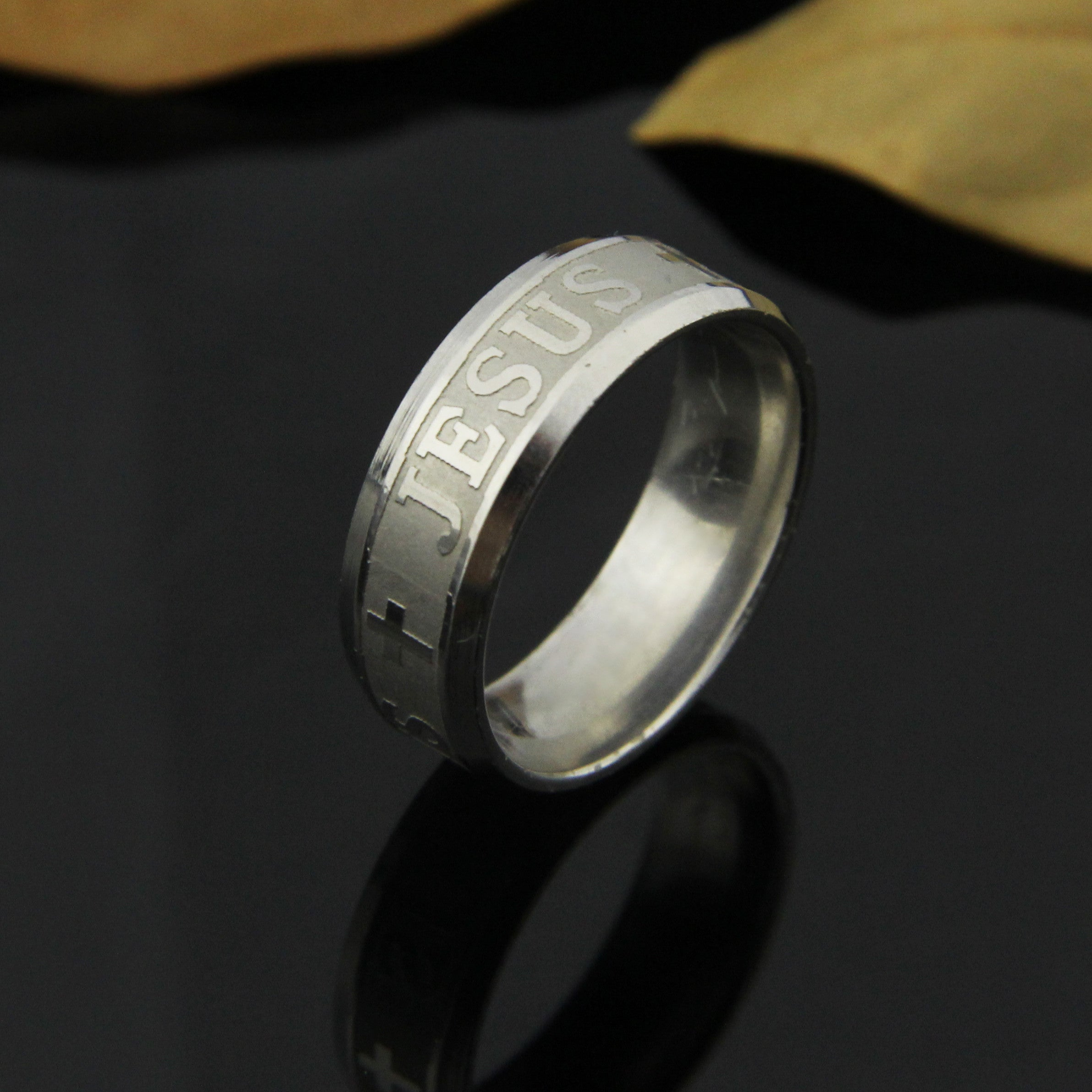 Silver Jesus Follower Ring