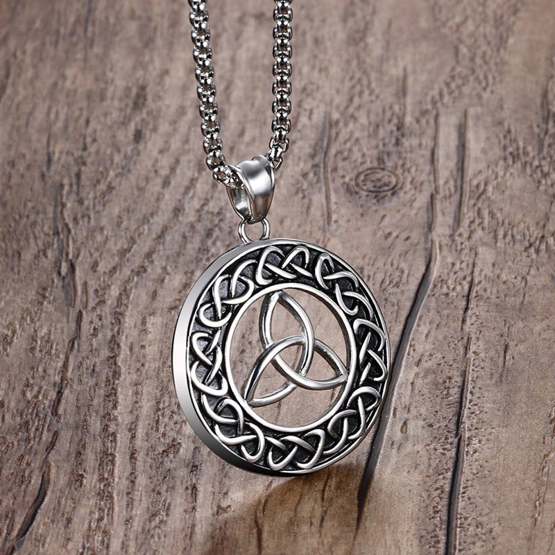 Stainless Steel Trinity Necklace