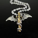 Stainless Steel Long Dragon Necklace