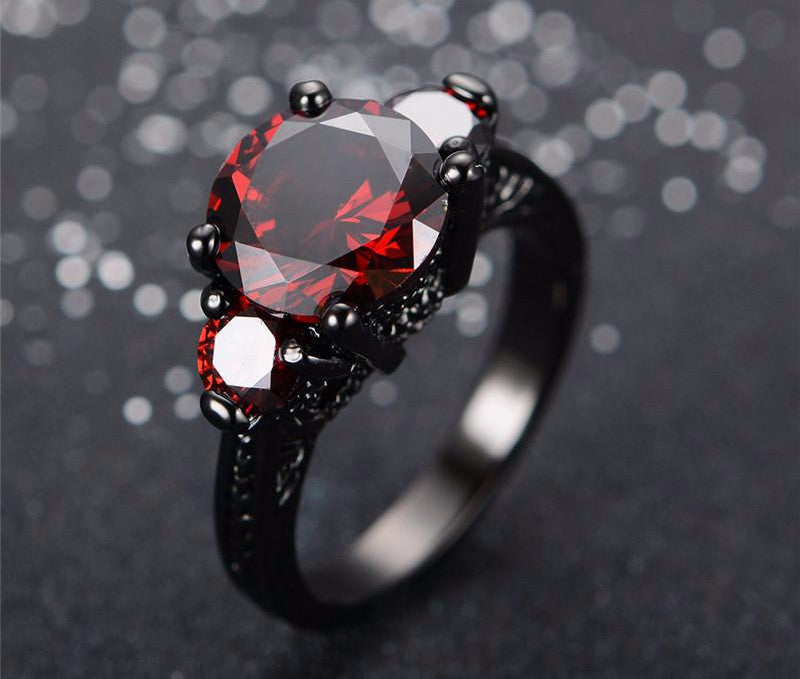 July Ruby Birthstone Ring