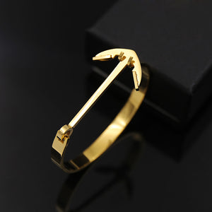 Stainless Steel Anchor Bangle