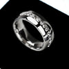 Channel Zircon Set Wedding Band
