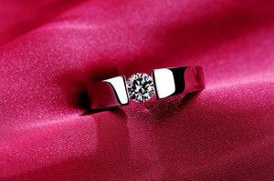 Rose/White Gold-plated with Zircon Wedding band - Special Design Jewelry - 1