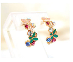 Vibrant Mix Stud Earrings - Special Design Jewelry - 1