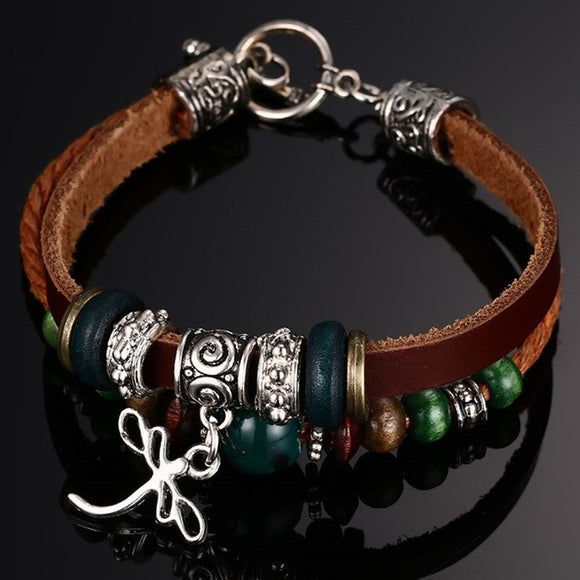 Leather Bracelet Men's Bangle Stainless Steel Fashion Retro Anchor Charm Jewelry For Women - Special Design Jewelry - 1