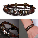 Leather Bracelet Men's Bangle Stainless Steel Fashion Retro Anchor Charm Jewelry For Women - Special Design Jewelry - 3