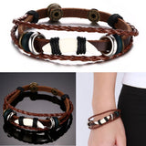 Leather Bracelet Men's Bangle Stainless Steel Fashion Retro Anchor Charm Jewelry For Women - Special Design Jewelry - 4