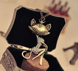 Vintage Cat Necklace - Special Design Jewelry - 1
