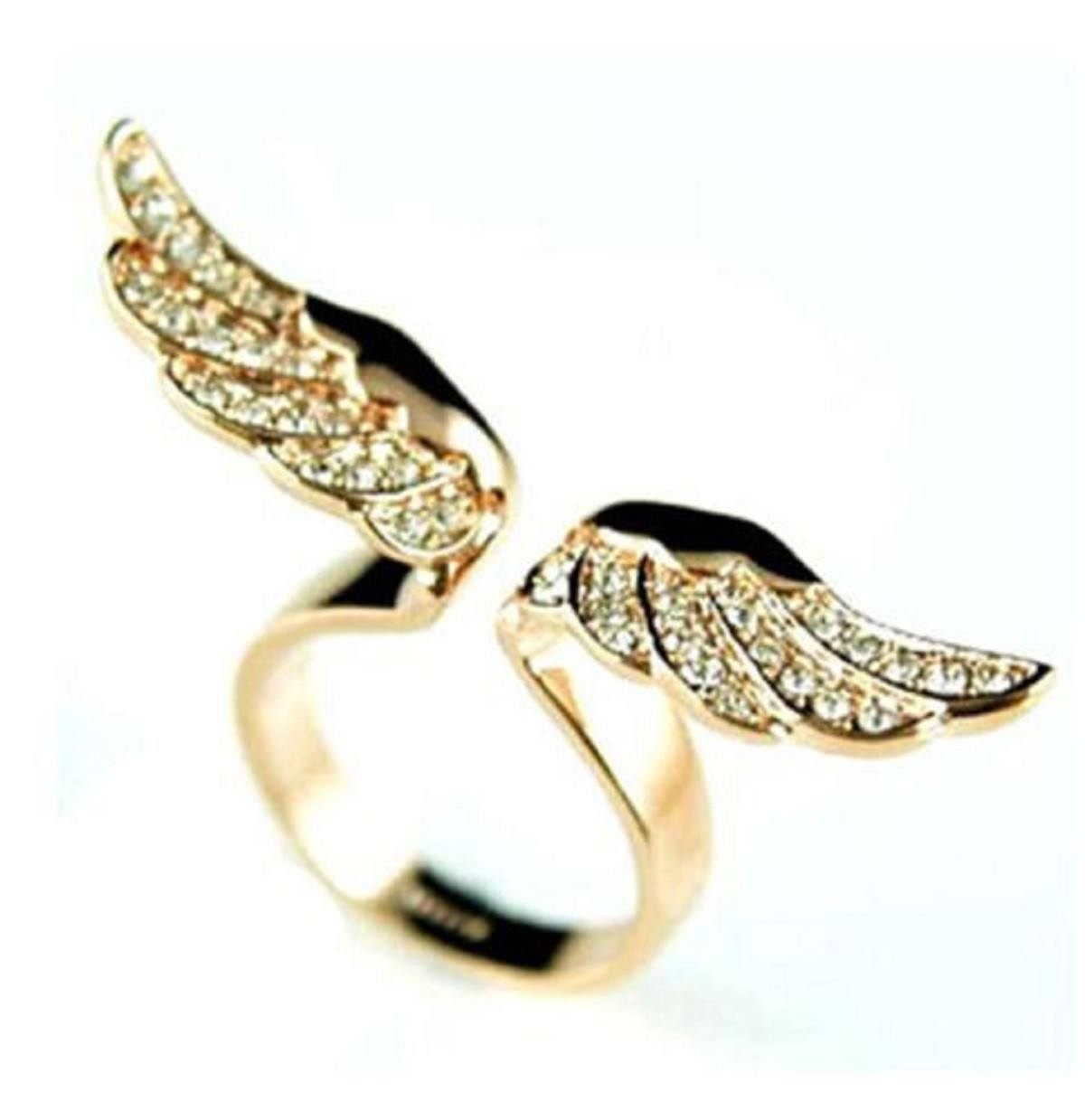 Golden Angel Wings Ring - Special Design Jewelry - 1